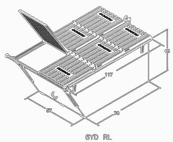 Rudco Rear Load 6 Yard Containers Dimensions