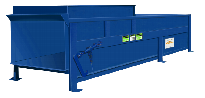 Rudco Stationary Compactor Blue