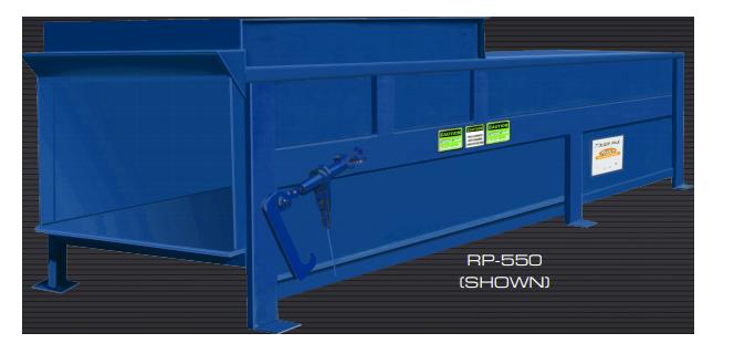 Rudco Stationary Compactor Blue
