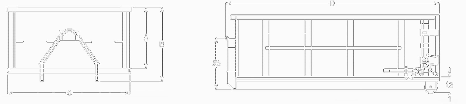 Rudco Hook Lift Container Dimensions