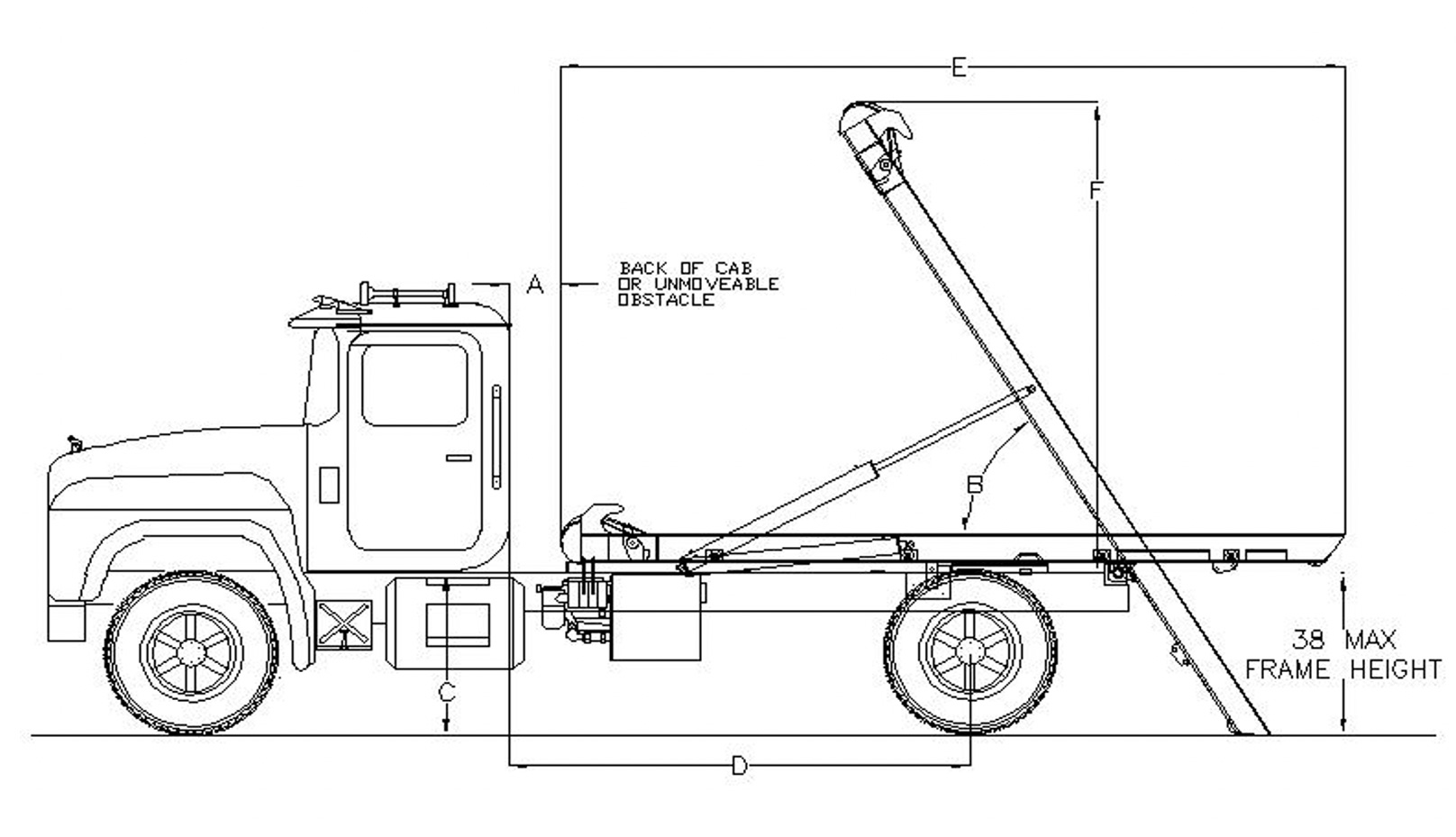 Rudco Mini Roll-off Hoist Specifications