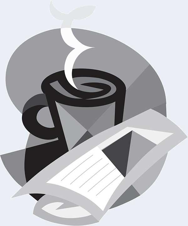 coffee and newspaper