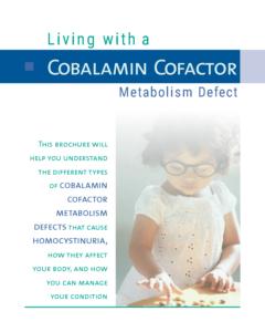 Living with a Cobalamin Cofactor Metabolism Defect Cystadane Cover