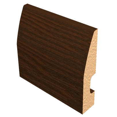 Laminated Baseboard Dark Brown #2386