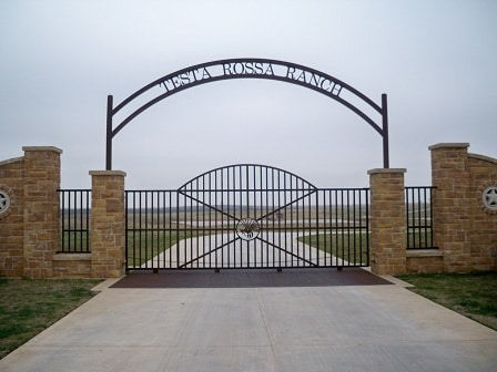 Large Iron Driveway gate protecting your estate