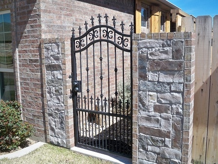 Outdoor Iron Gate to backyard