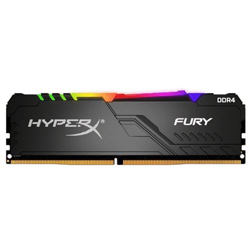 MEMORIA 8GB KINGSTON HYPER BLACK FURY RGB