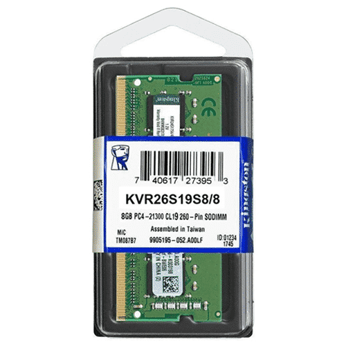 MEMORIA 8GB KINGSTON KVR26S19S8/8