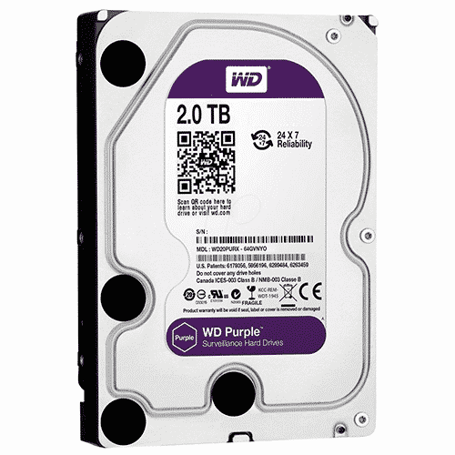 Disco duro Western Digital Purple WD20PURZ, 2 TB, SATA 6.0 Gb/s, 5400 RPM, 3.5″.