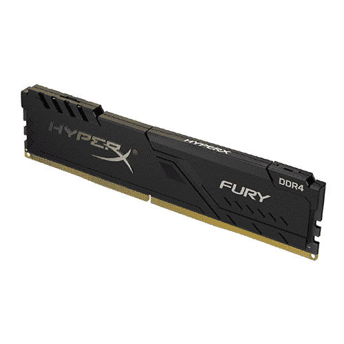 Memoria Kingston HyperX Fury Black, 8GB, DDR4, 2666 MHz, PC4-21300, CL16, 1.2V.