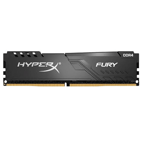 Memoria Kingston HyperX Fury Black, 16GB, DDR4, 2666 MHz, PC4-21300, CL16, 1.2V.