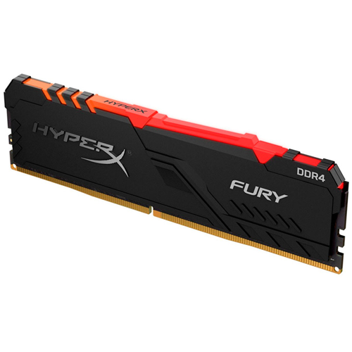 Memoria Kingston HyperX Fury RGB, 8GB, DDR4, 3200 MHz, PC4-25600, CL-16, 1.35V.