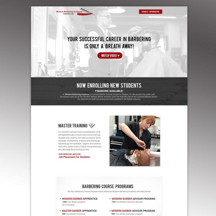 Modern Barbering Website