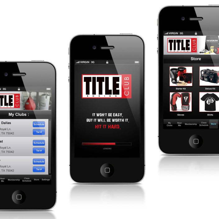Title Club Boxing Mobile App Design