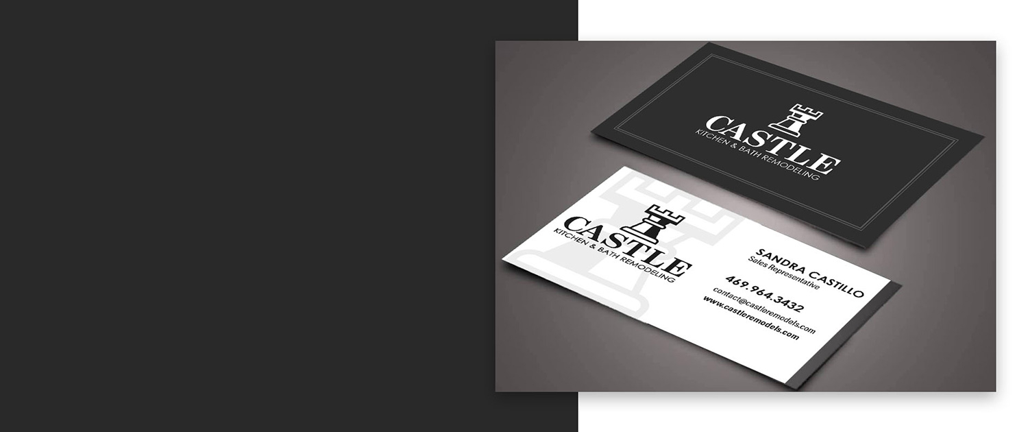 Castle Remodels Business Cards and Logo