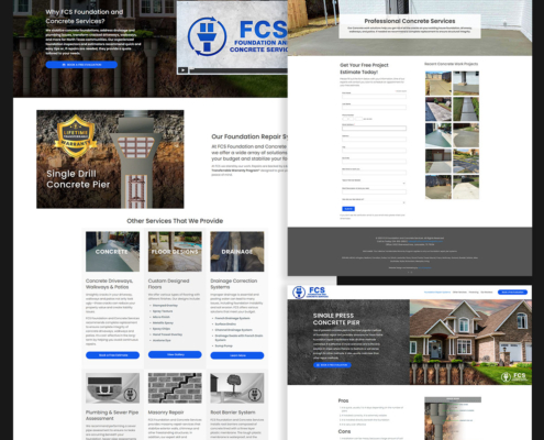 FCS Foundation and Concrete Services Repair Website