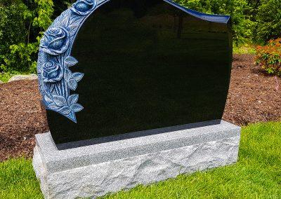 Upright gravestone