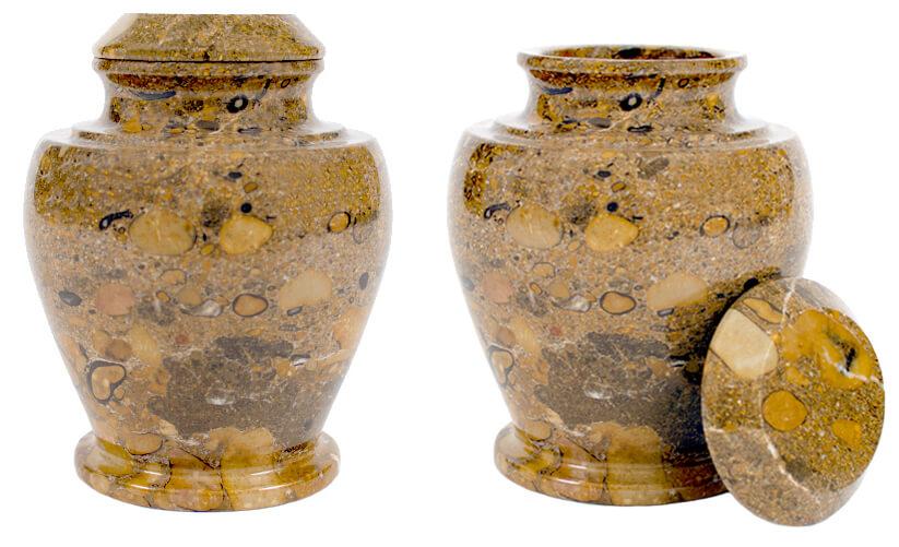 stone cremation urn