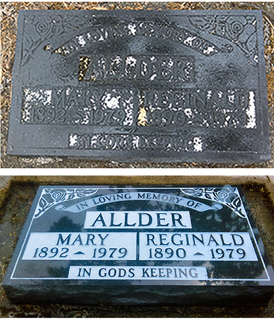 Headstone Lettering Restoration