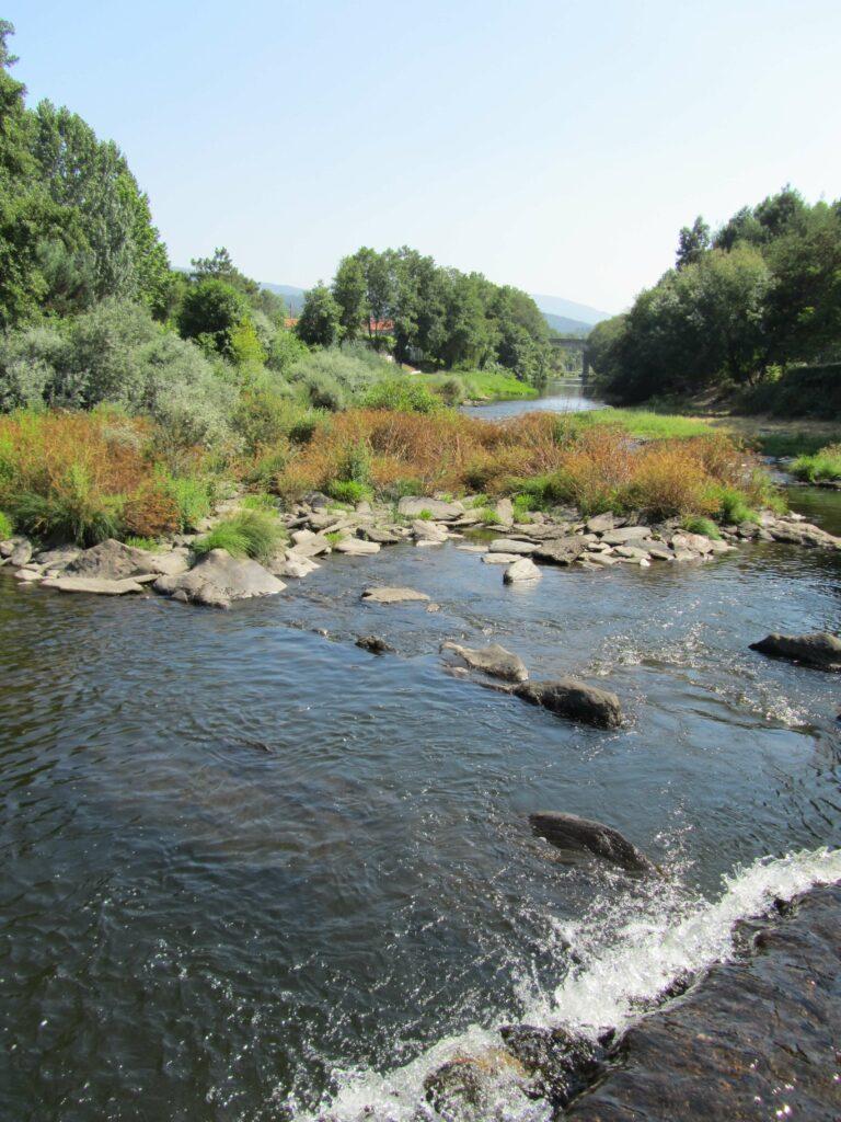 View downstream, Cascalheira River Beach