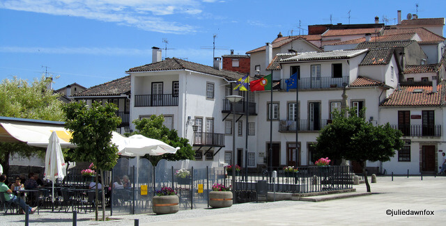 Cafés at Largo Municipal, Santa Comba Dão, Portugal