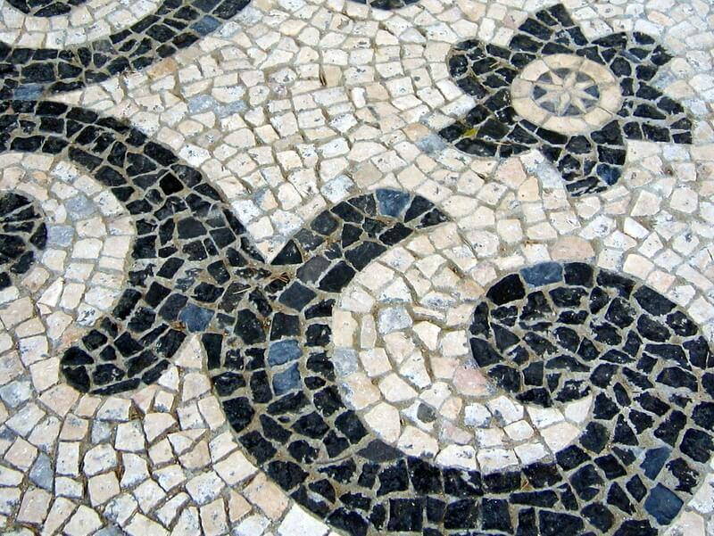 This cobbled pavement in Lisbon is lovely but only if you've got the right footwear.