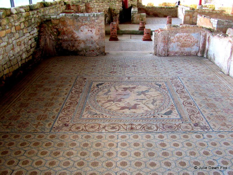 Mosaic floor, House of Fountains, Conimbriga