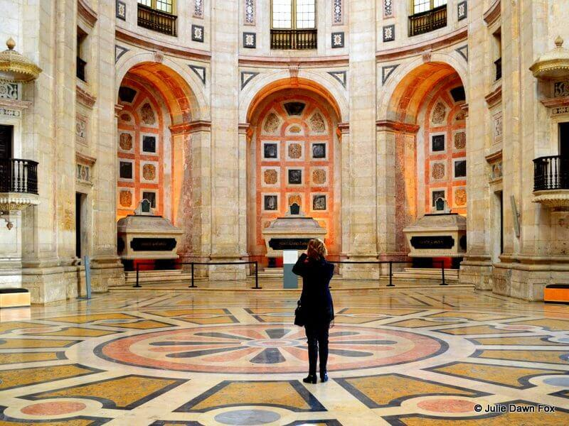 Magnificent marble floor and tombs, National Pantheon, Lisbon, Portugal