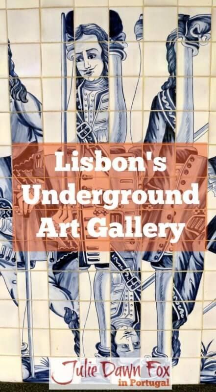 Lisbon Metro underground art gallery. Metro art in Portugal's capital city