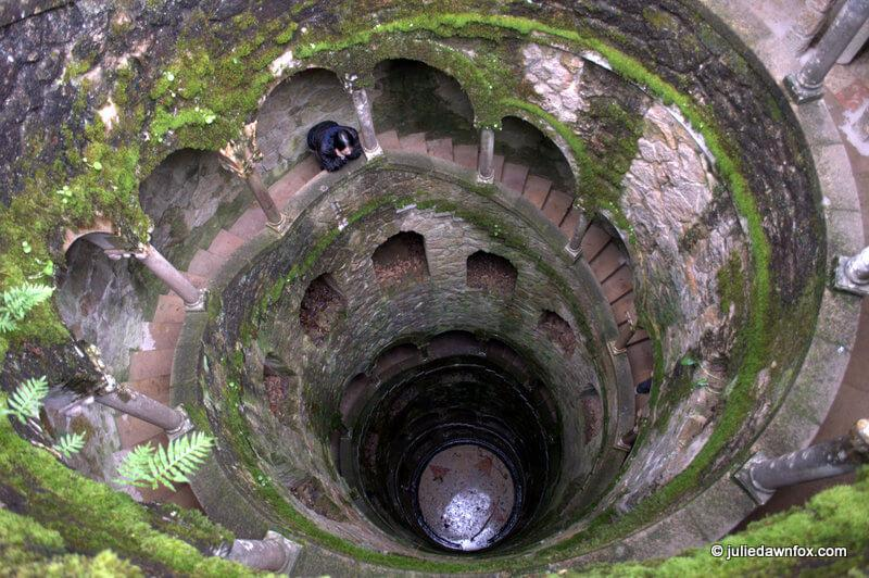 Looking down the well, Quinta da Regaleira, Sintra