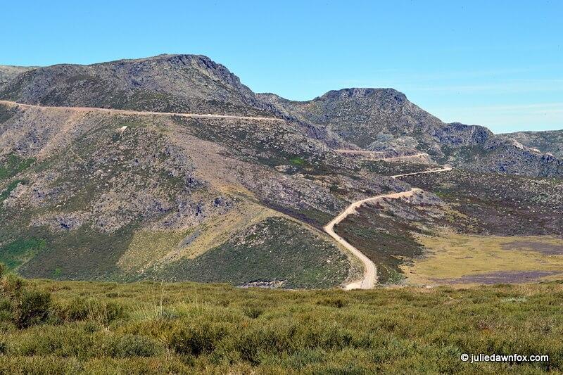 Road through the Serra da Estrela Mountains in Central Portugal