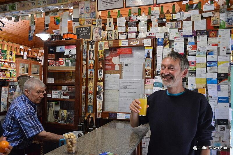Mike, about to try poncha at Taberna da Serra de Agua, Madeira