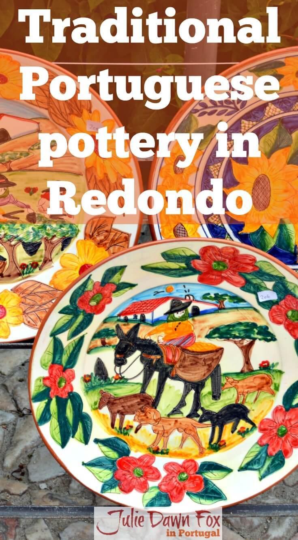 Traditional Portuguese pottery in Redondo, Alentejo, Portugal