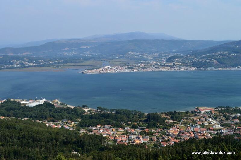 Caminha and Serra d'Arga seen from Santa Tecla. Photography by Julie Dawn Fox