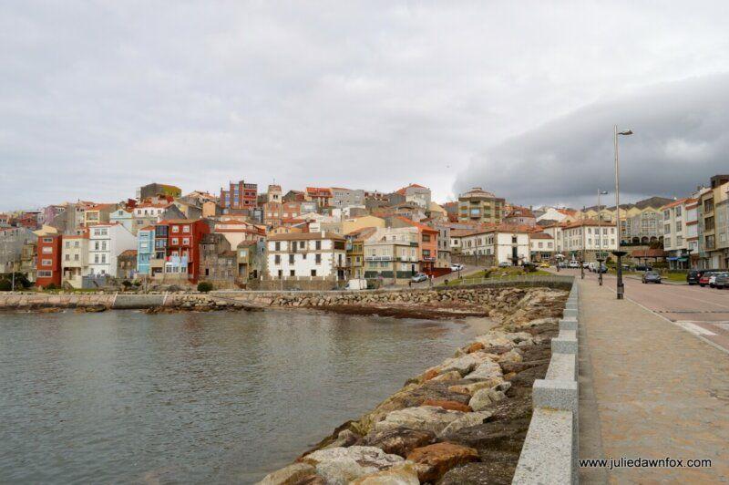 Colourful buildings near the harbour, A Guarda, Spain
