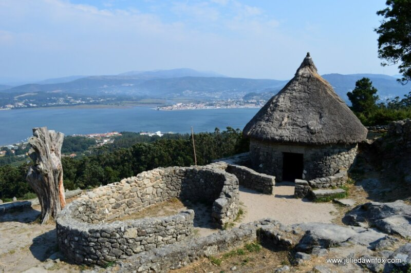 Reconstructed Celtic house with thatched roof, Santa Tegra, A Guarda, Spain