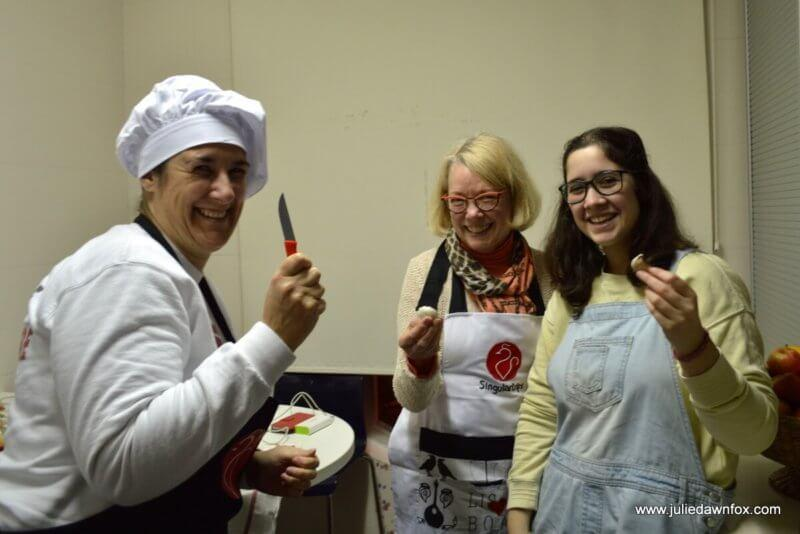 Patricia, Anita and Beatriz, Singular Trips cooking class