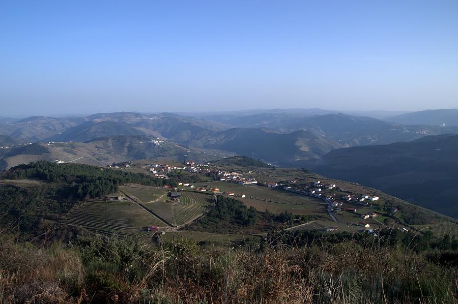 View from Ermida de São Domingos, Provosende, Douro wine region, Portugal