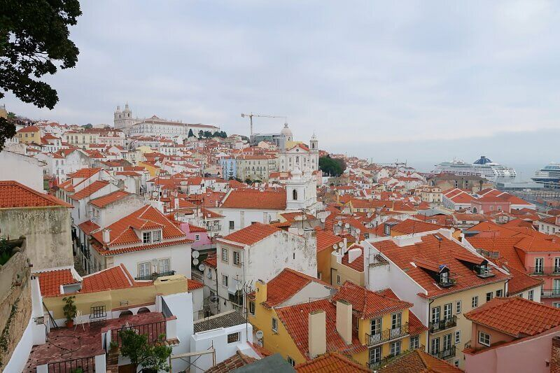 Alfama, from Memmo Alfama rooftop bar, Lisbon
