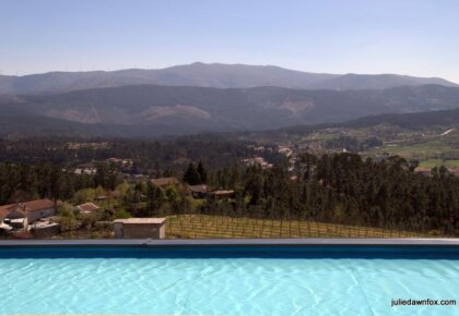 Mountain views from Quinta de Santa Cristina on a vinho verde wine tasting and tour