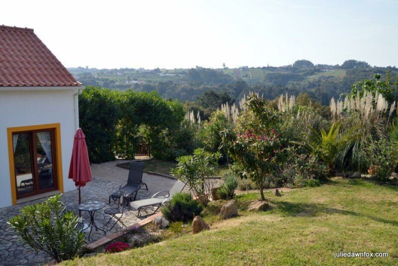 Gardens and views, Quinta do Bom Vento. Quality self-catering accommodation near Obidos