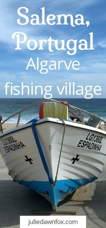 Salema beach Portugal. Traditional Algarve fishing village