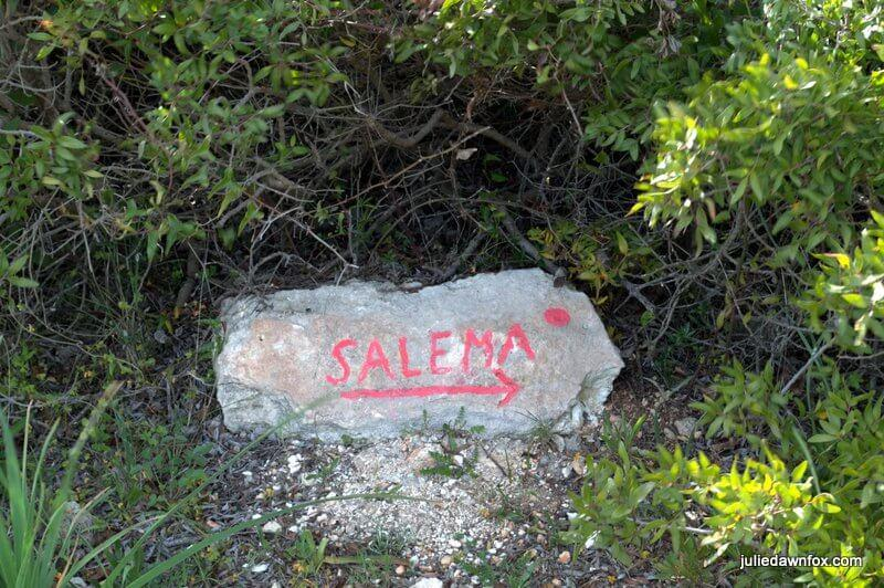 Sign for Salema on Boca do Rio nature trail
