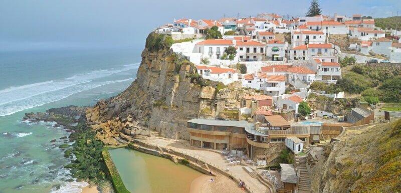 Azenhas do Mar village, cliff and beach