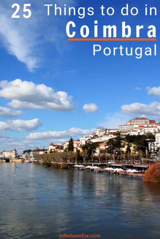 View of the city of Coimbra and the Mondego river. 25 Things to do in Coimbra, Portugal.