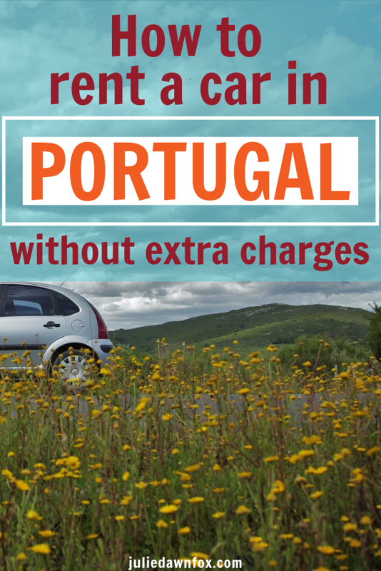 Car on road. How To Rent A Car In Portugal And Avoid Sneaky Extra Charges