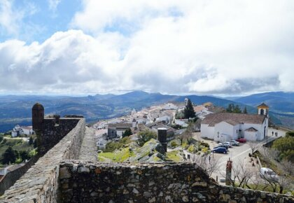 Marvão village and Serra de São Mamede seen from the castle walls