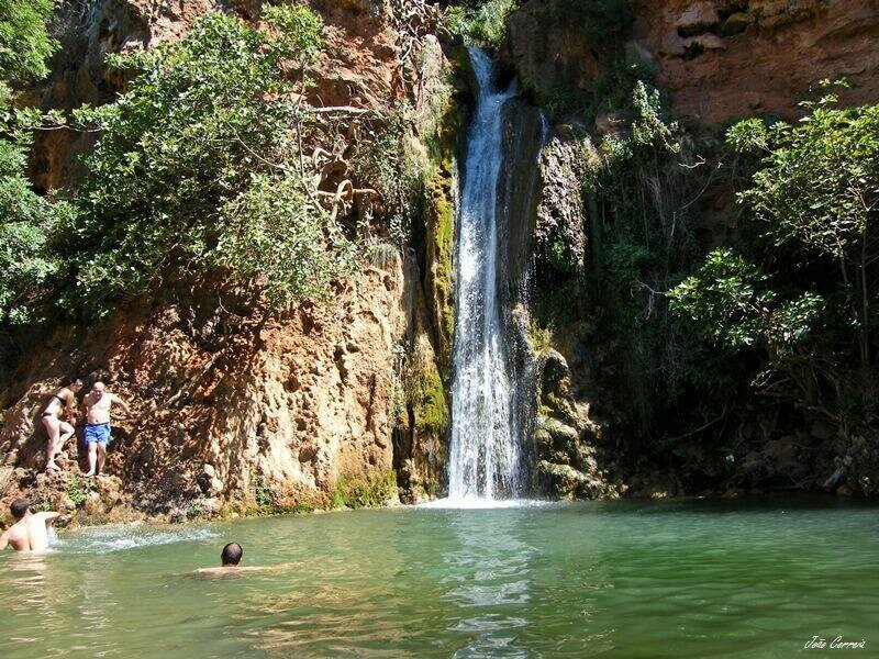 Alte waterfall. Off the beaten track Algarve Portugal