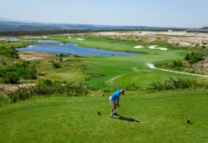 Golfer, Royal Obidos golf course, Silver Coast