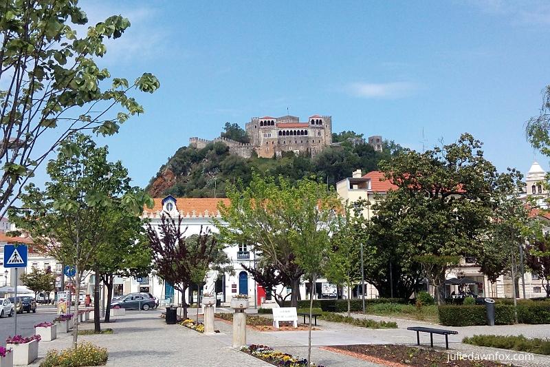 Leiria city centre and castle, Portugal